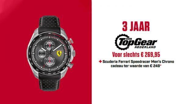 Gratis Scuderia Ferrari Speedracer horloge bij een Top Gear abonnement