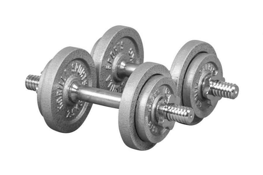 Dumbellset 20 kg Gietijzer (schroefsluiting)