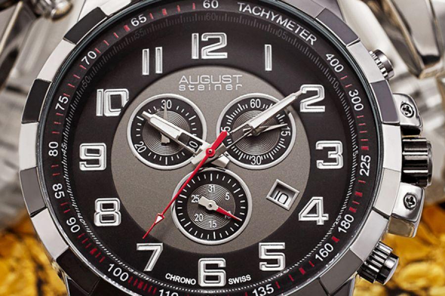 August Steiner Chronographs | AS8118BK, AS8118SSB, AS8118TTG, AS8118YG