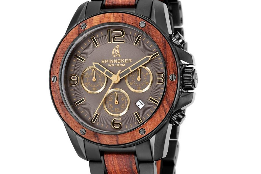 Refurbished - Spinnaker Vessel Wood Chronograph | SP-5027-44
