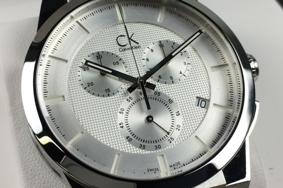 Calvin Klein Silver Dart 'Swiss Made' Chronograph | K2S371D6