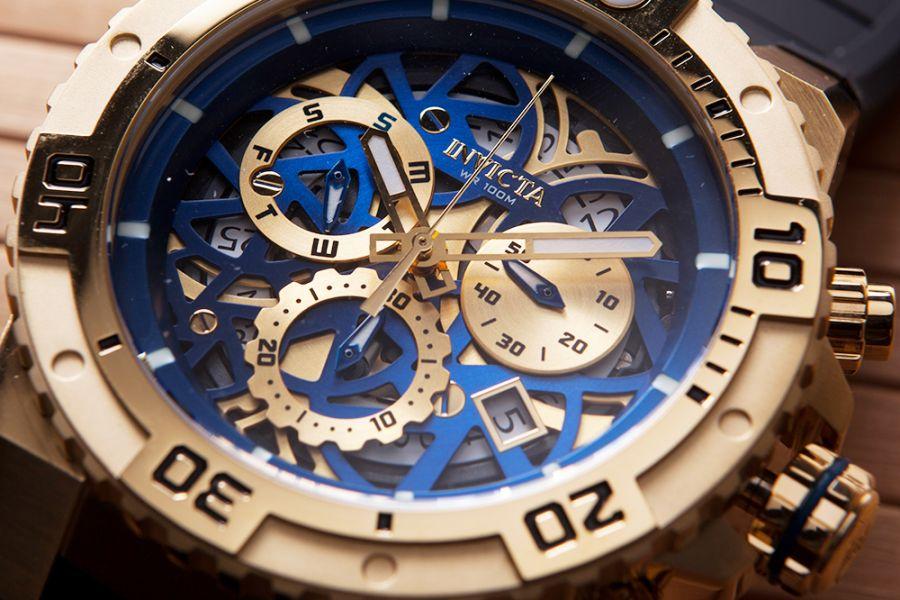 Invicta Pro Diver skeleton chronographs