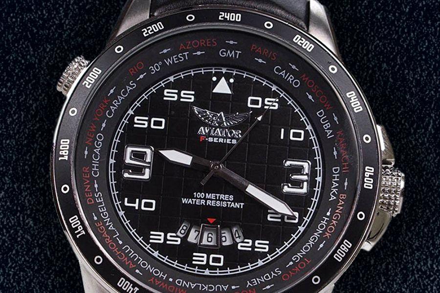 Aviator 'GMT' AVW7770G84