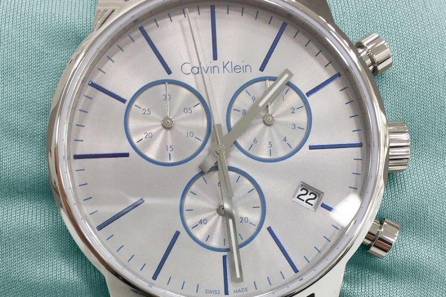 Calvin Klein 'Swiss Made' Chronograph met zonnebril | K2G271Q4 + CKJ152S 002 58 + CKJ151S 422