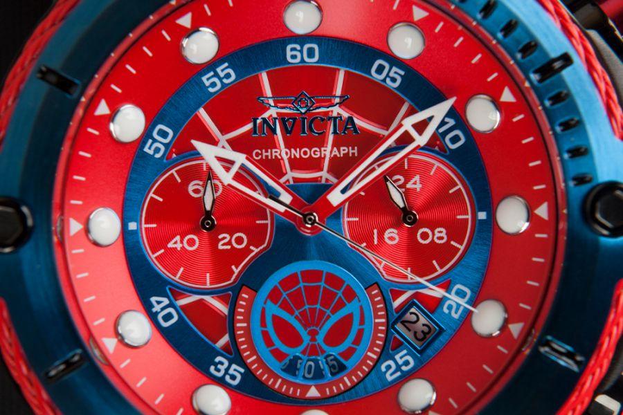 Invicta 52mm Marvel horloges 25782 (Spiderman) en 25983 (Punisher)