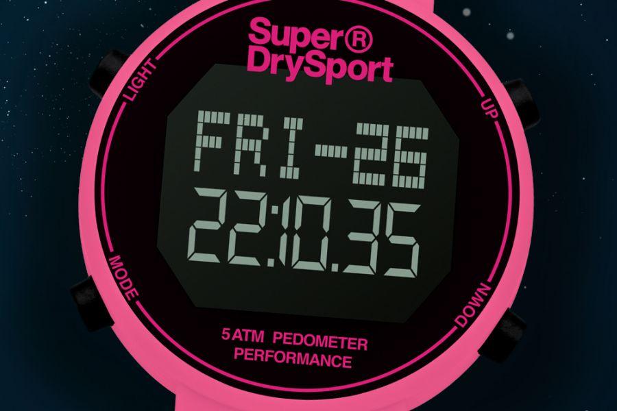 Superdry sporthorloges met stappenteller en chronograaf