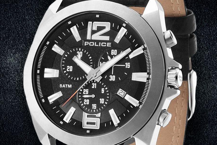 Police Ranger II Chronograph optioneel met zonnebril | PL14104JS/02 + SPL161 U28P 563
