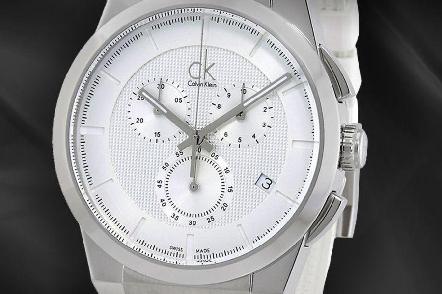 Calvin Klein 'Swiss Made' Dart Chronograph optioneel met zonnebril | K2S371L6