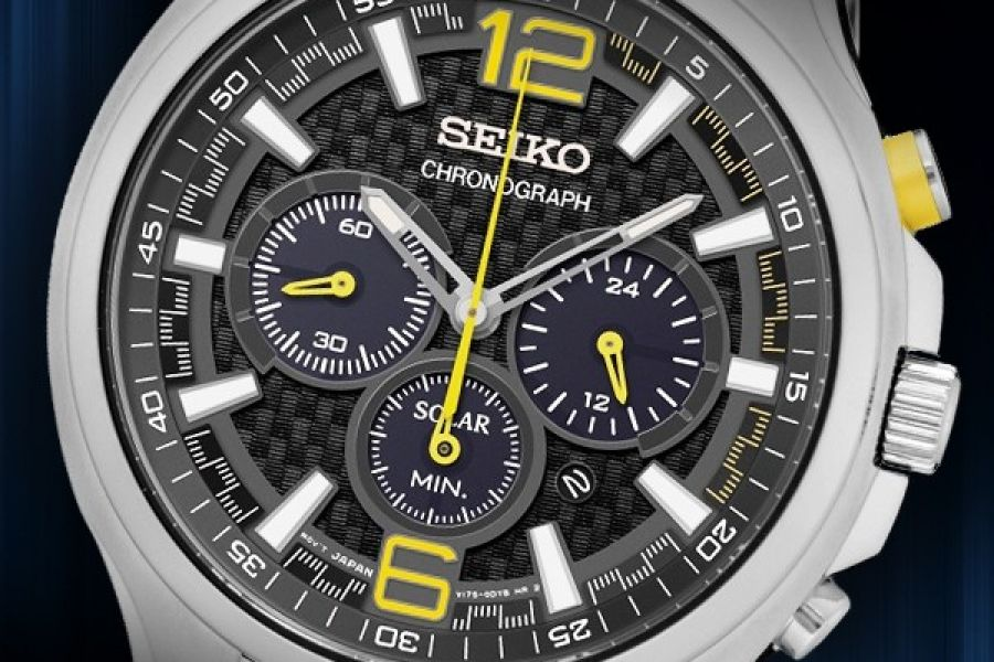 Seiko Solar Chronograph optioneel met horlogebox | SSC449P9