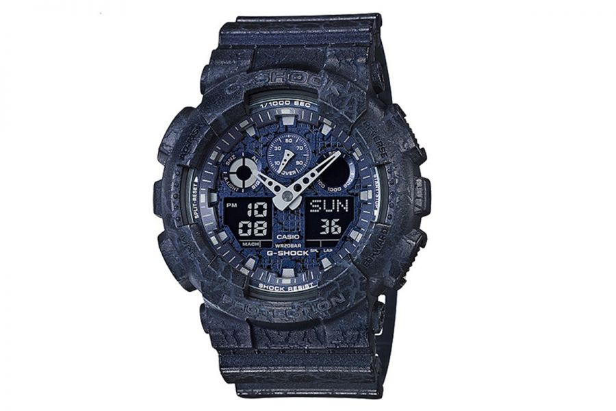 Casio G-Shock Cracked Concrete Chronograph | GA-100CG-2AER