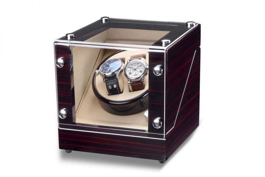 Rothenschild luxe watchwinders Bergamo - voor 2 horloges | RS-2038-MCS