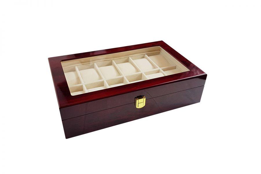 Luxe klassieke houten horlogebox voor 12 horloges
