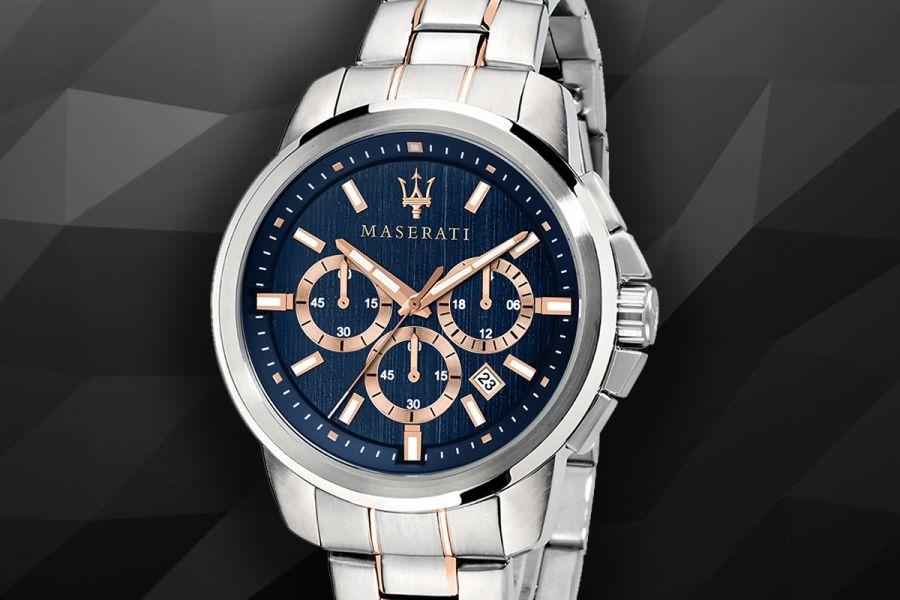 Maserati Successo edelstalen chronografen
