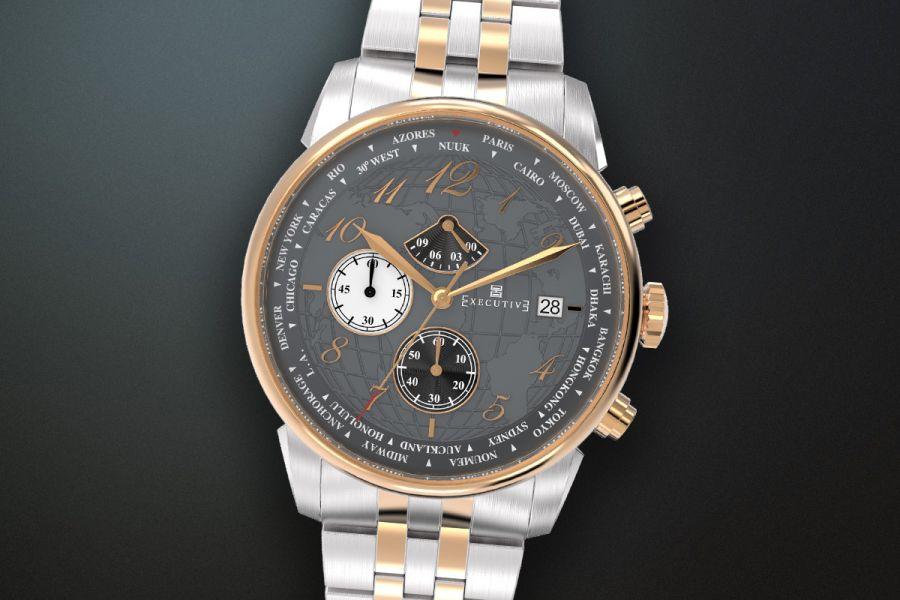 Executive Club Steel Chronographs Chronographs | X-1001