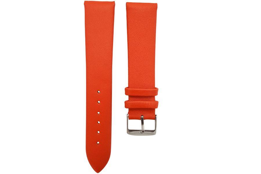 Strap van soepel runderleer | Oranje CP000301