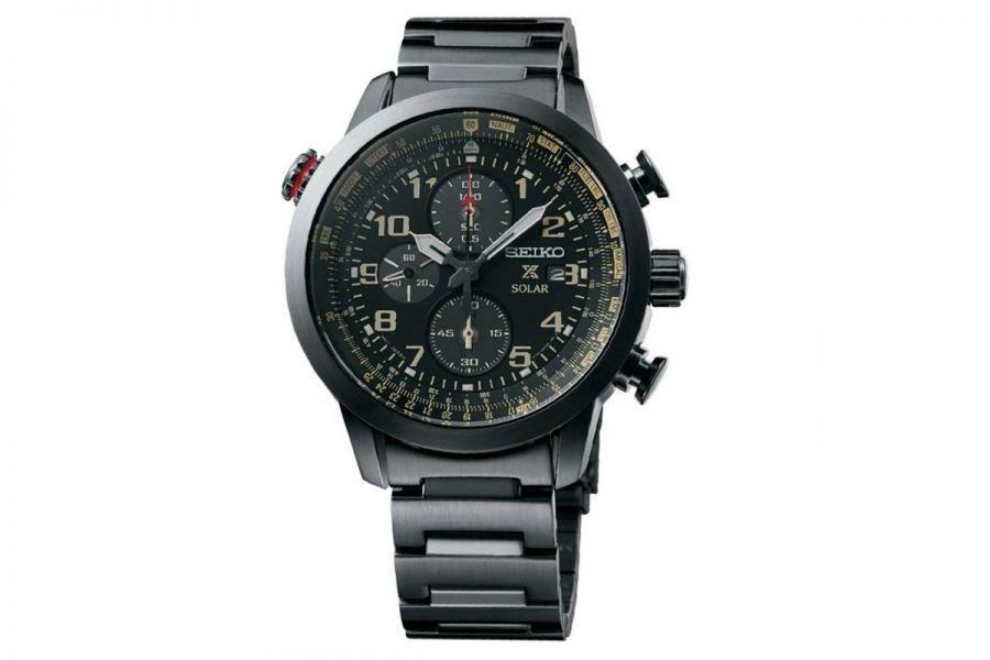 Seiko Prospex Solar full black chronograph | SSC419P1