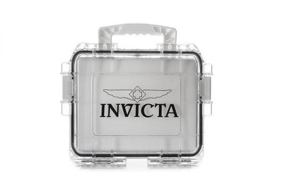 Invicta Dive Case 3 Slot Transparent White | DC3PCWHT