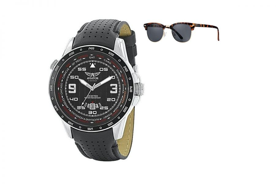 Aviator F-Series World Cities met GRATIS Aviator zonnebril | AVW7770G84 + AVGSR682TS