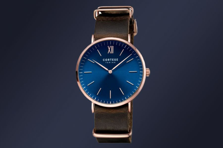 Klassieke Cortese Prologo horloges met domed glass