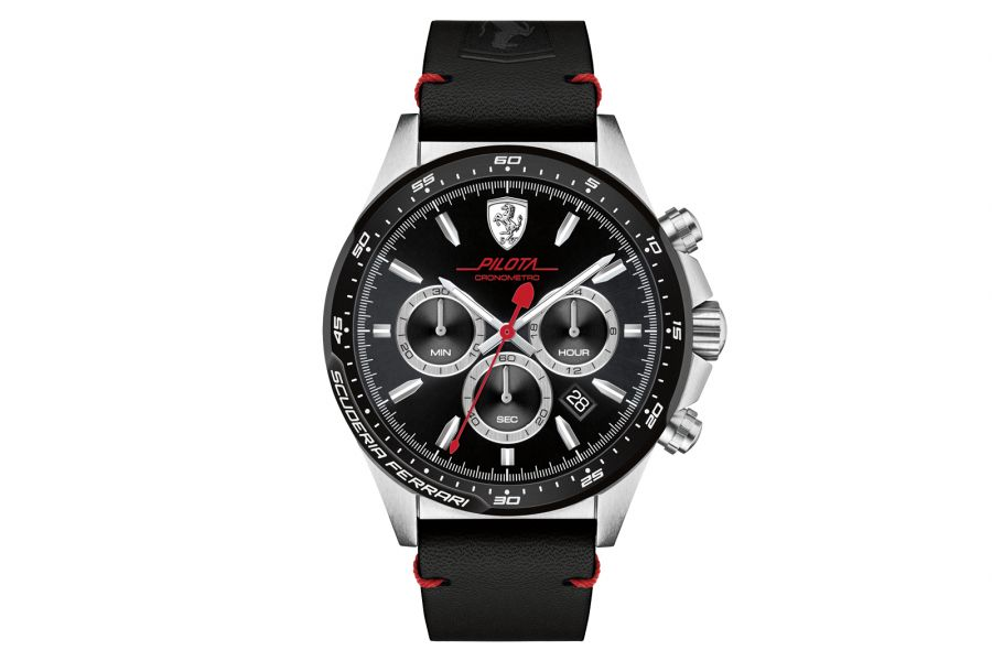 Scuderia Ferrari Pilota Chronograph Staal 45mm | 830389