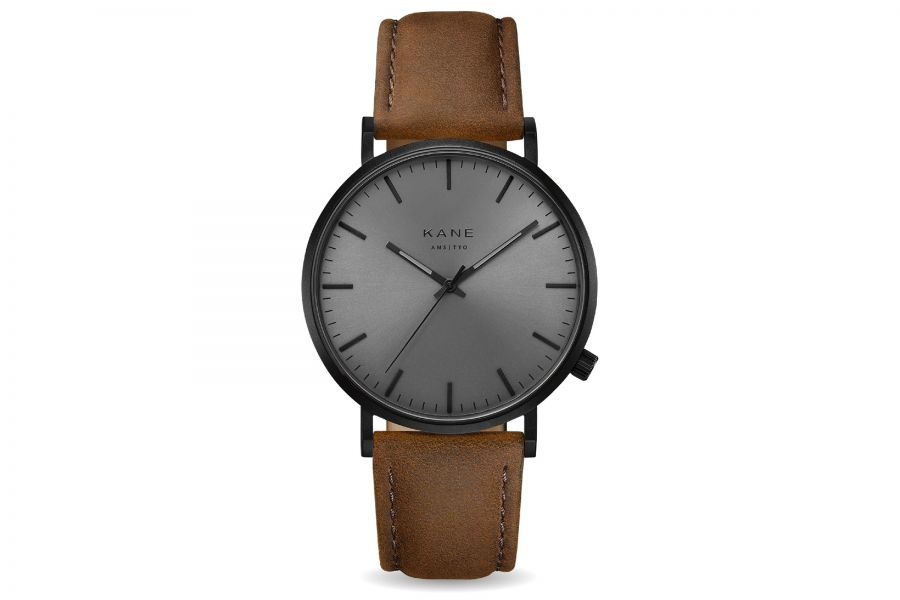 Kane Watches | Black out - Vintage Brown
