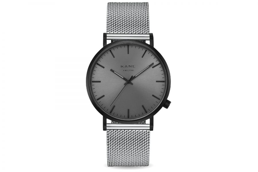 Kane Watches | Black out - Silver mesh