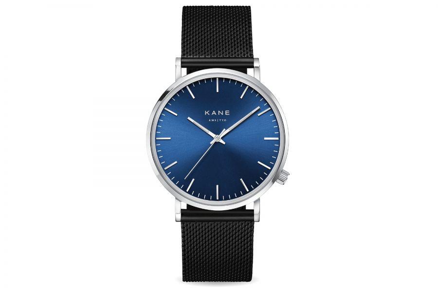 Kane Watches | Blue Artic Black Mesh