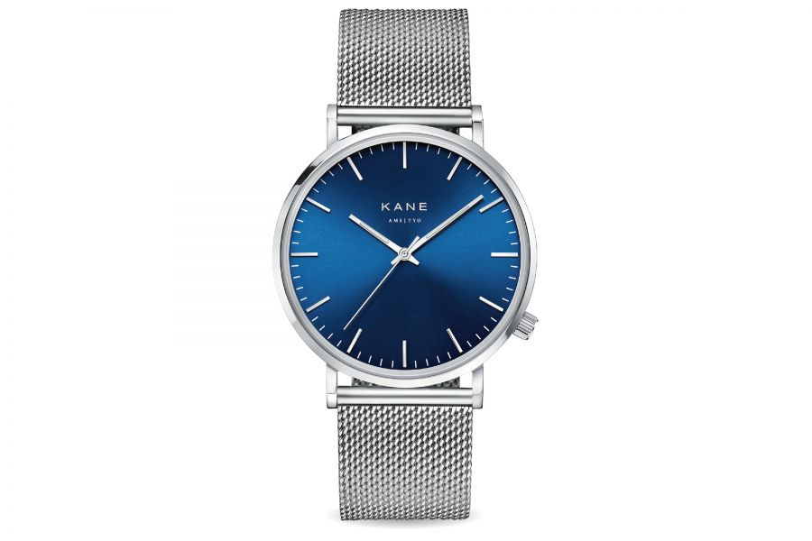 Kane Watches | Blue Artic Silver Mesh