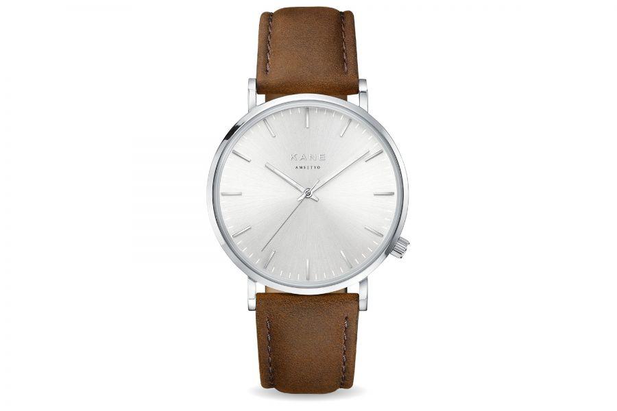 Kane Watches | Silver Steel Vintage Brown