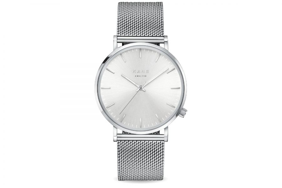 Kane Watches | Silver Steel Silver Mesh
