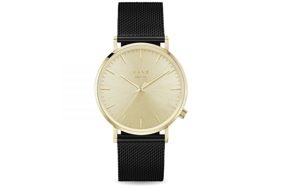 Kane Watches | Gold Rush Black Mesh