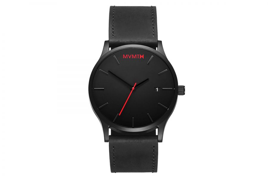 MVMT Classic 45mm Black Leather D-L213.5L.551