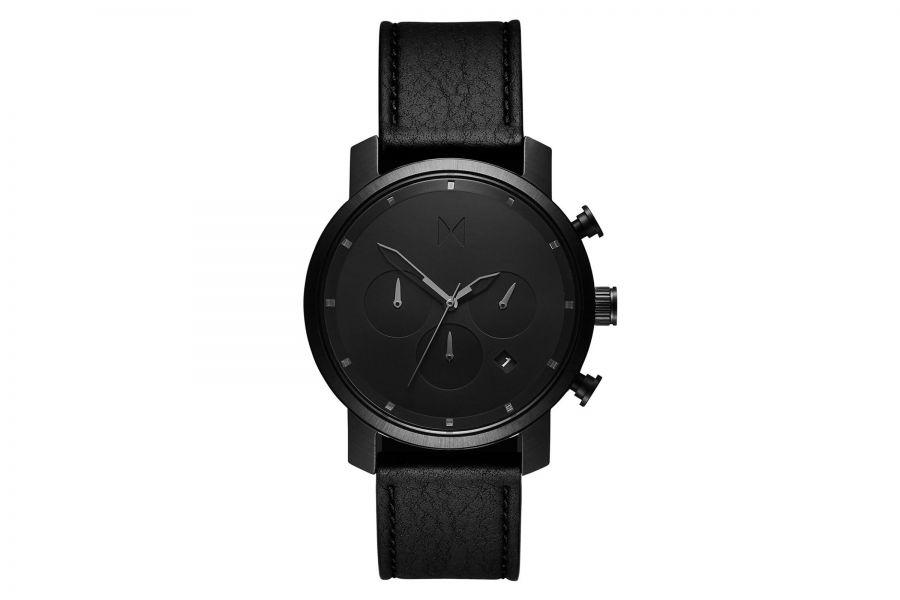 MVMT Chrono 40mm Black Leather D-MC02-BLBL