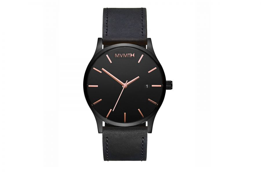 MVMT Classic 45mm Black Rose Leather D-MM01-BBRGL