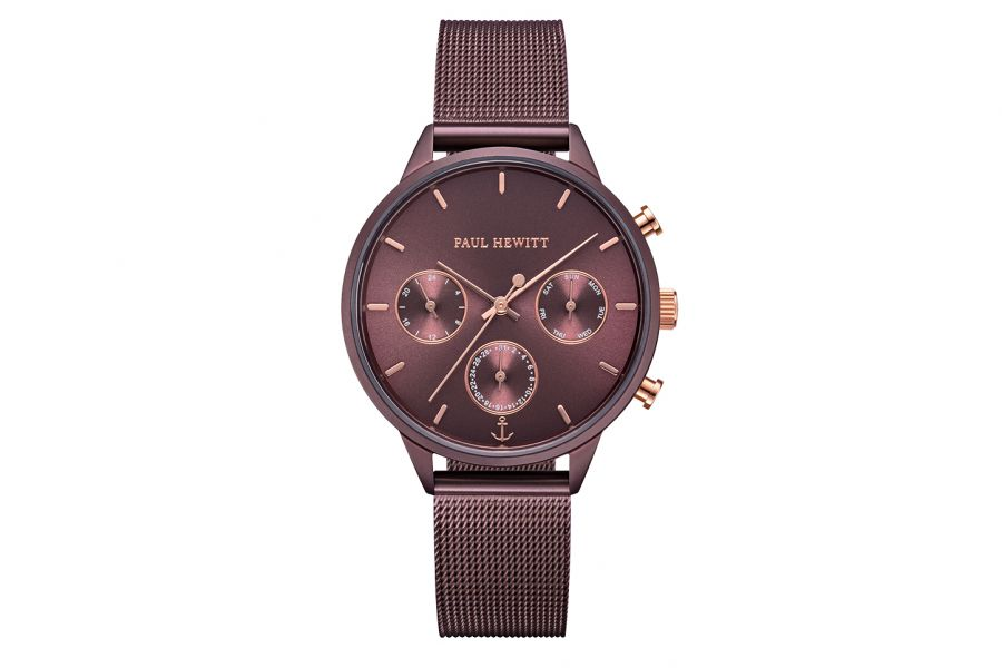 Paul Hewitt PH Everpulse Dark Mauve OP Mauve/Rose Mesh Strap Rose 36mm PH-E-DM-DM-53S