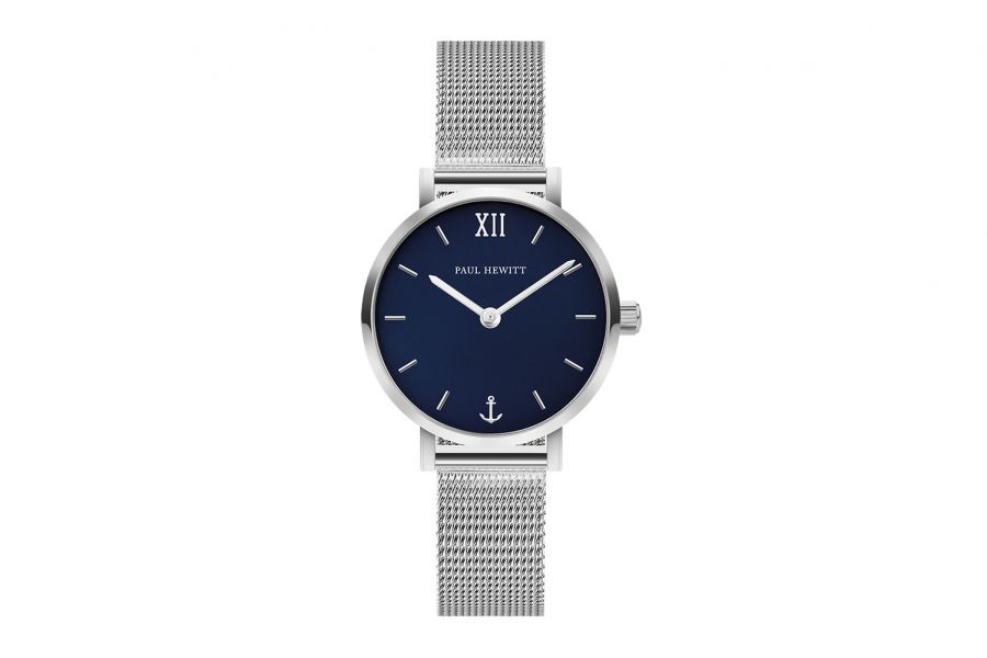 Paul Hewitt PH Sailor Line Modest Blue Lagoon SS Mesh Strap 28mm PH-SA-S-XS-B-45S