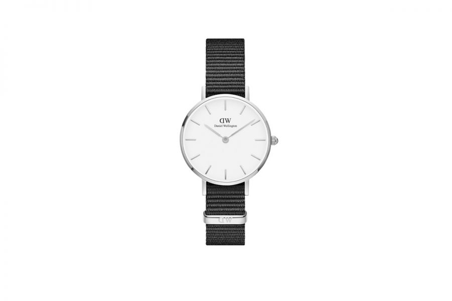 Clasis Petite White Cornwall Zilver 32mm DW00100254