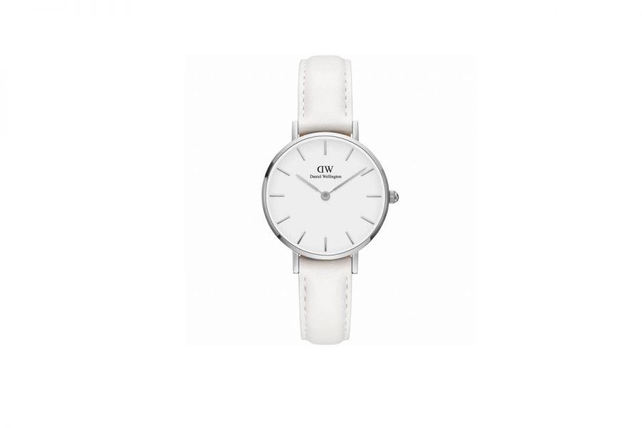 Classic Petite Bondi Zilver White 28mm DW00100250