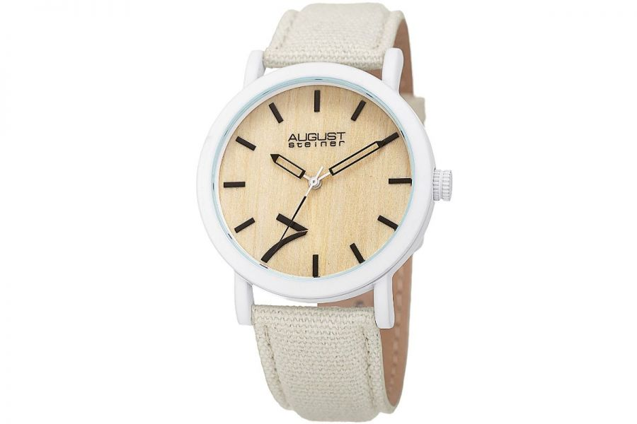 Refurbished - August Steiner Wood Grain Dial | AS8238WT