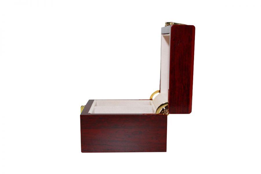 Luxe klassieke houten horlogebox voor 2 horloges   Rood