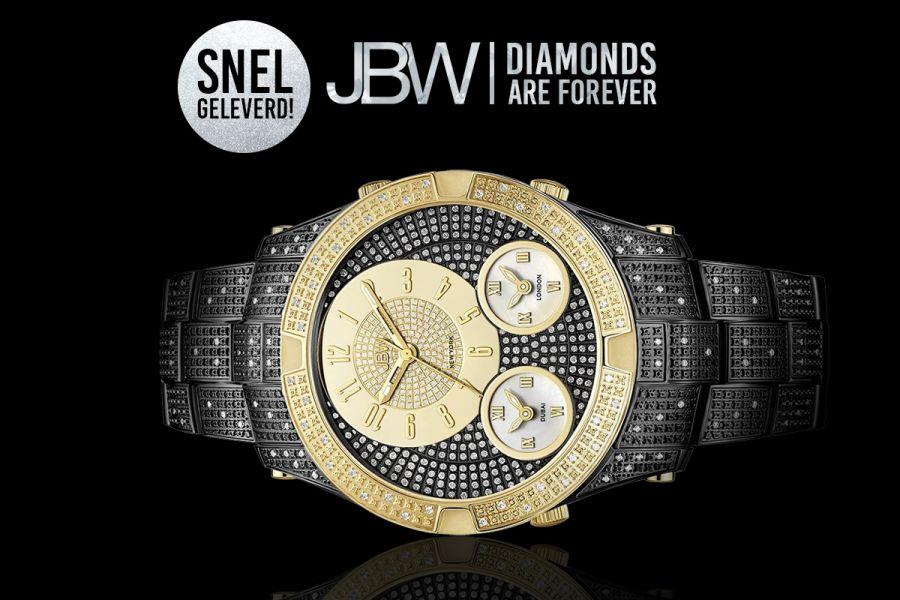JBW Jet Setter III Diamonds Swiss Quartz   J6348E