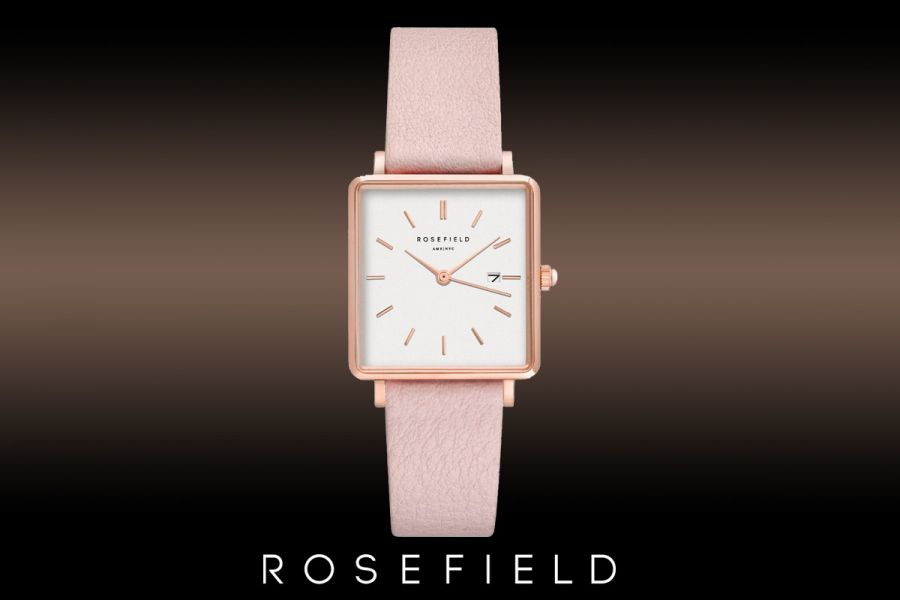 Rosefield The Boxy dameshorloge QWPR-Q11
