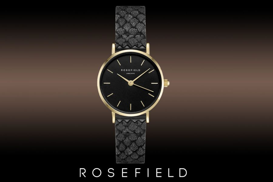 Rosefield The Small Edit Black Dameshorloge | 26BBG-262