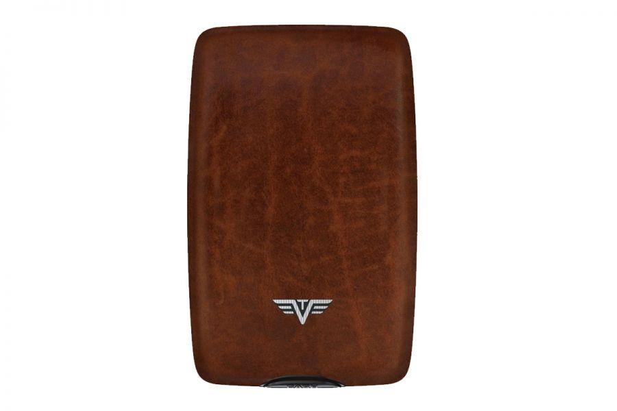 Tru-Virtu Wallet CASH & CARDS Natural Brown