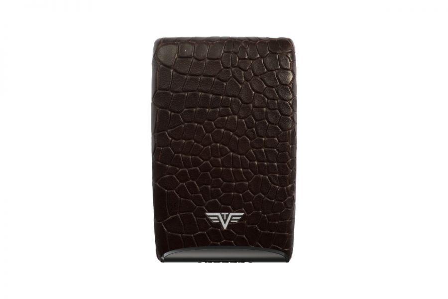 Tru-Virtu Credit Card Etui FAN Croco Brown