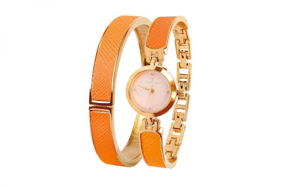 Temptation Set Horloge en Armband Oranje TEA-2016-09