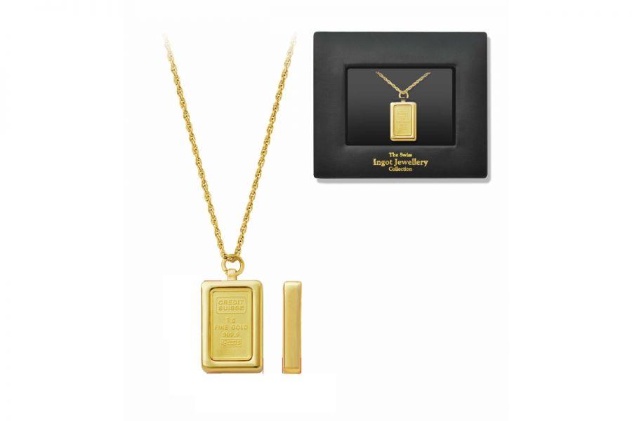 Credit Suisse nekhanger met 1 gram 24K goudstaaf | Ladies