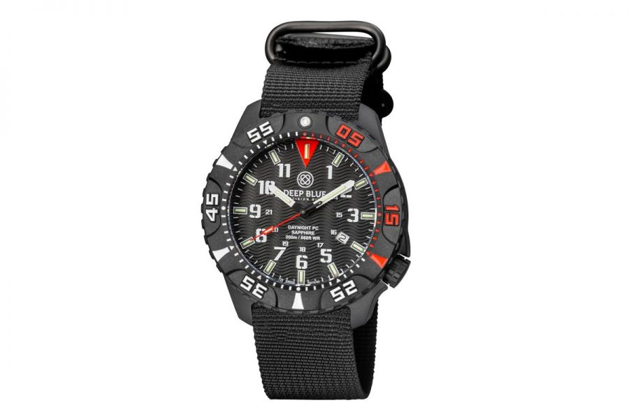 Deep Blue Daynight Diver Tritium Red