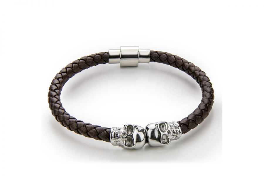 Monomen Men's Genuine Nappa Leather Bracelet MM10827SO