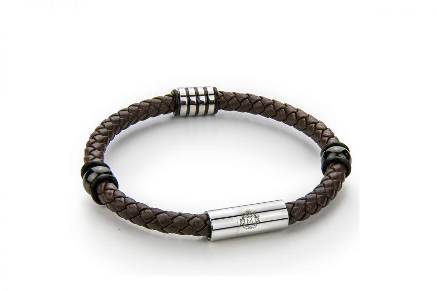 Monomen Men's Genuine Nappa Leather Bracelet MM10828SO